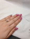 My Edinburgh nails. Brisa sculpts finished with ilac and Lecente glitter.