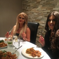 Kristina and Sara from Famous Pout in Prestwick, Ayrshire. Enjoying their meal and cursing me and my pictures lol.