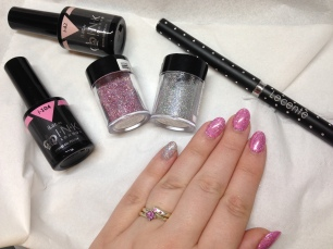 For those interested I used ink ilac i104 & i42 on my nails, and topped with Lecente silver holographic and firefly.
