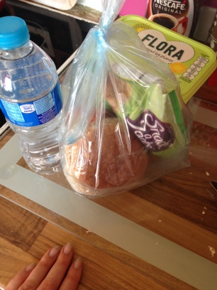 my wee lunch all packed and ready.